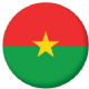 Burkina Faso Country Flag 58mm Button Badge